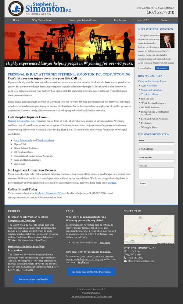Law Firm Website Design for Stephen L. Simonton P.C.