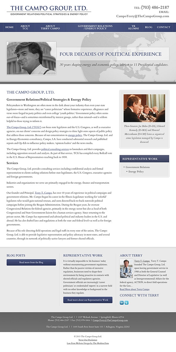 Law Firm Website Design for The Campo Group Ltd.