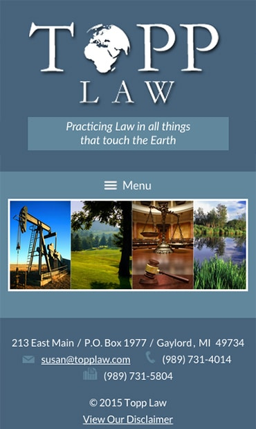 Responsive Mobile Attorney Website for Topp Law