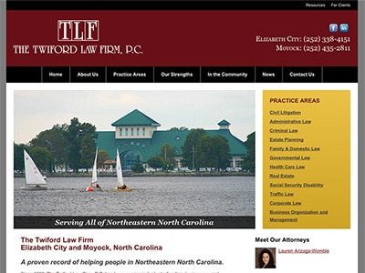 Law Firm Website design for The Twiford Law Firm, P.C…