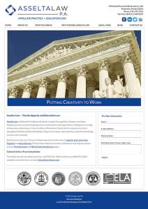 Fort Lauderdale Florida Attorney Website Design