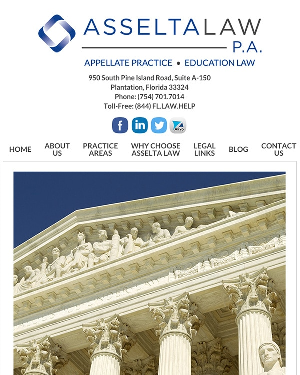 Mobile Friendly Law Firm Webiste for Asselta Law PA