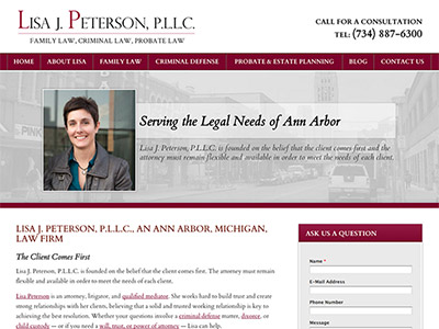 Ann Arbor Solo Attorney Website Design