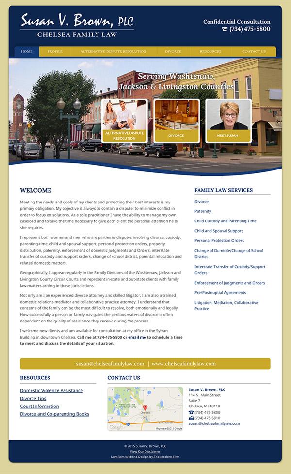 Law Firm Website Design for Susan V. Brown, PLC