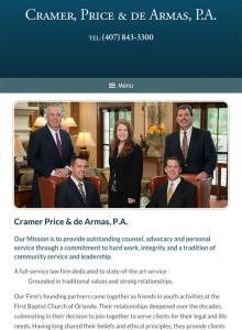 Orlando Florida Law Firm Website for iPad