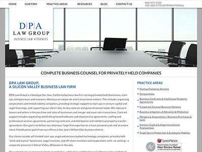 Website Design for San Jose California Business Attorneys