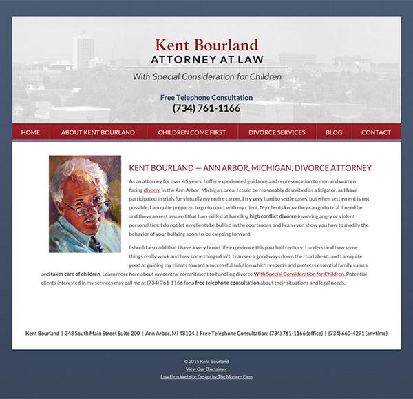 Law Firm Website Design for Kent Bourland