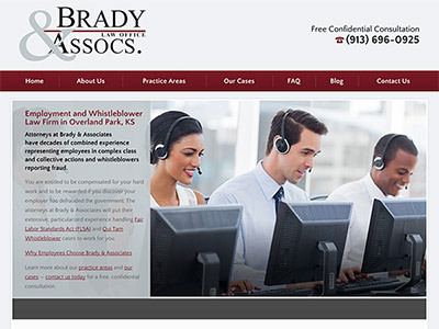 Law Firm Website design for Brady & Associates