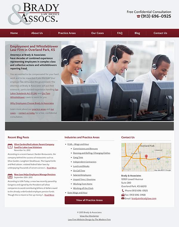 Law Firm Website Design for Brady & Associates