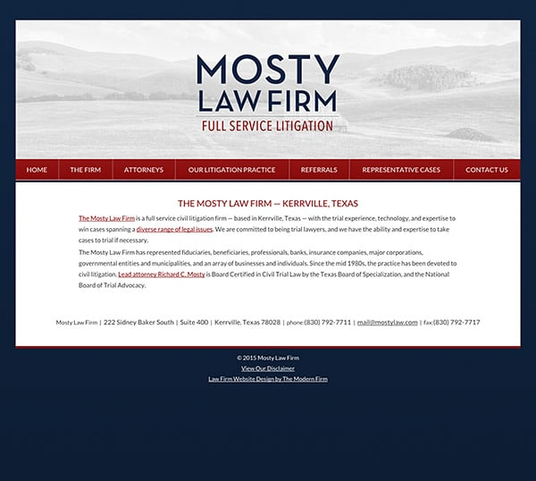Law Firm Website Design for Mosty Law Firm