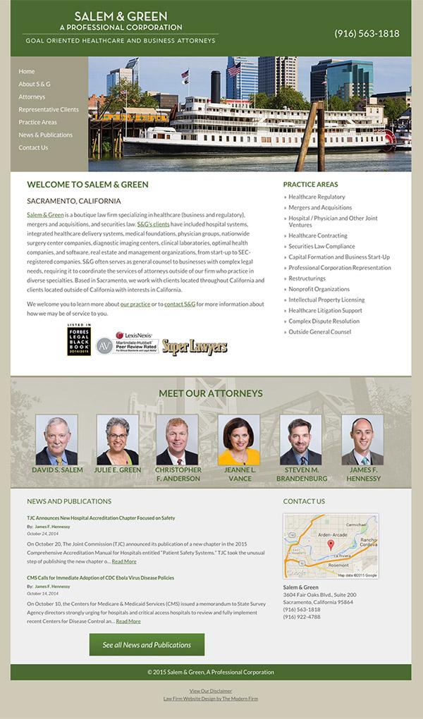 Law Firm Website Design for Salem & Green