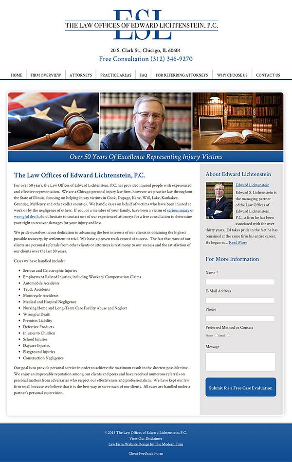 Law Firm Website Design for The Law Offices of Edward Lichtenstein, P.C.