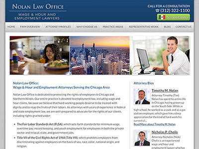 Chicago Attorney Website Design