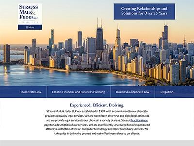 Law Firm Website design for Strauss & Malk LLP