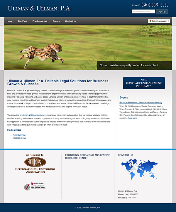 Law Firm Website Design for Ullman & Ullman, P.A.