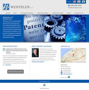 Patent Law Attorney Website