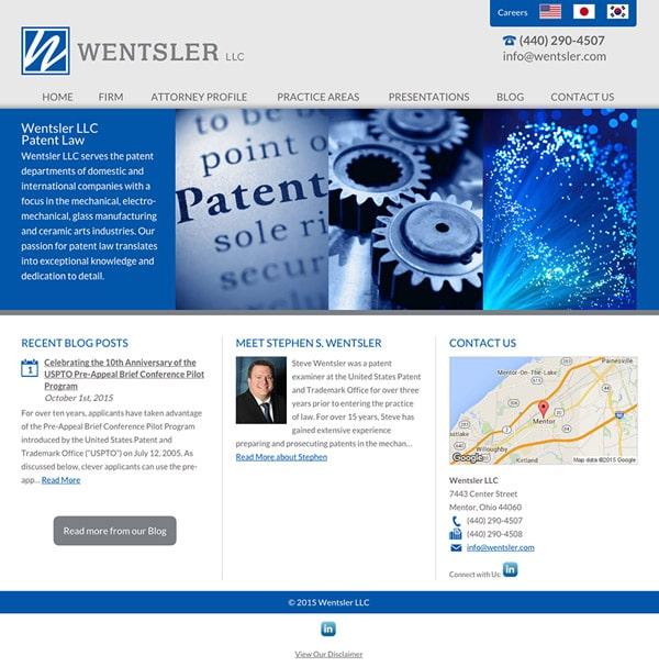 Law Firm Website Design for Wentsler LLC