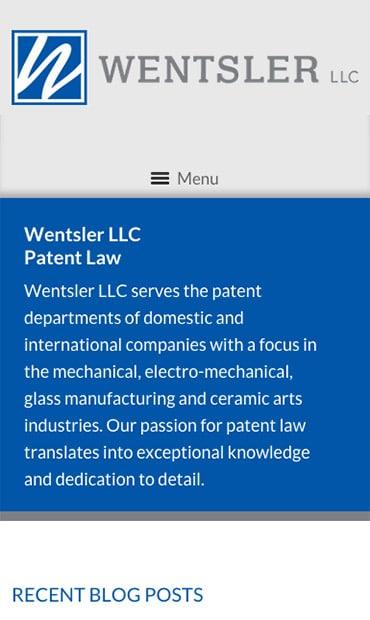 Responsive Mobile Attorney Website for Wentsler LLC