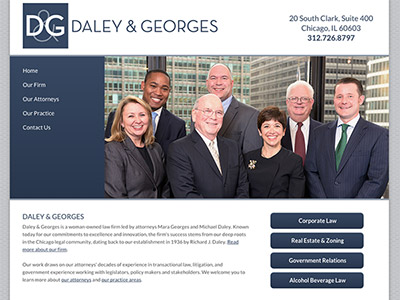 Website Design for Chicago Law Firm