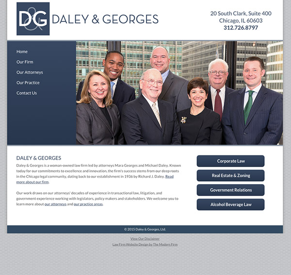 Law Firm Website Design for Daley & Georges, Ltd.
