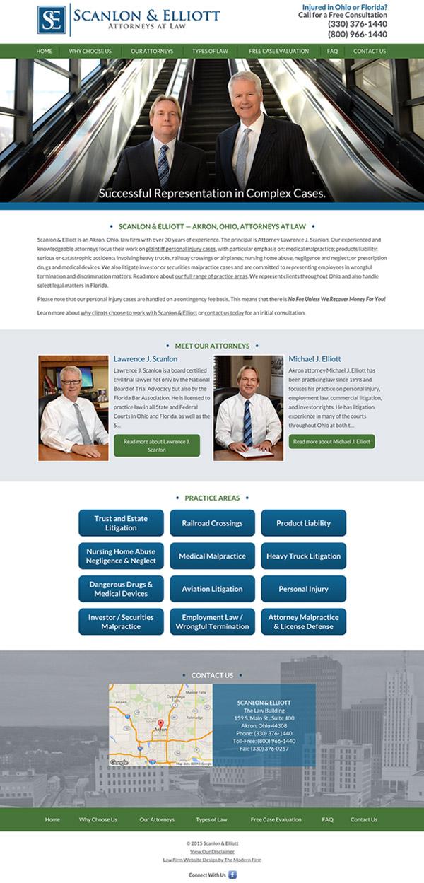 Law Firm Website Design for Scanlon & Elliott