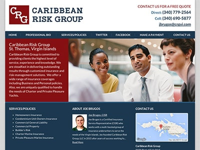 Law Firm Website design for Caribbean Risk Group