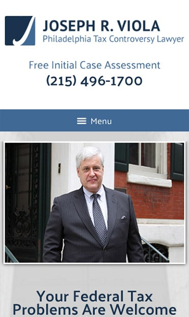 Responsive Mobile Attorney Website for Joseph R. Viola