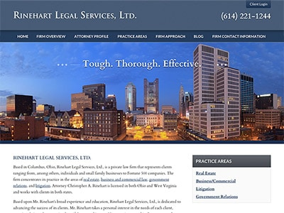 Columbus, OH, Solo Attorney Website Design