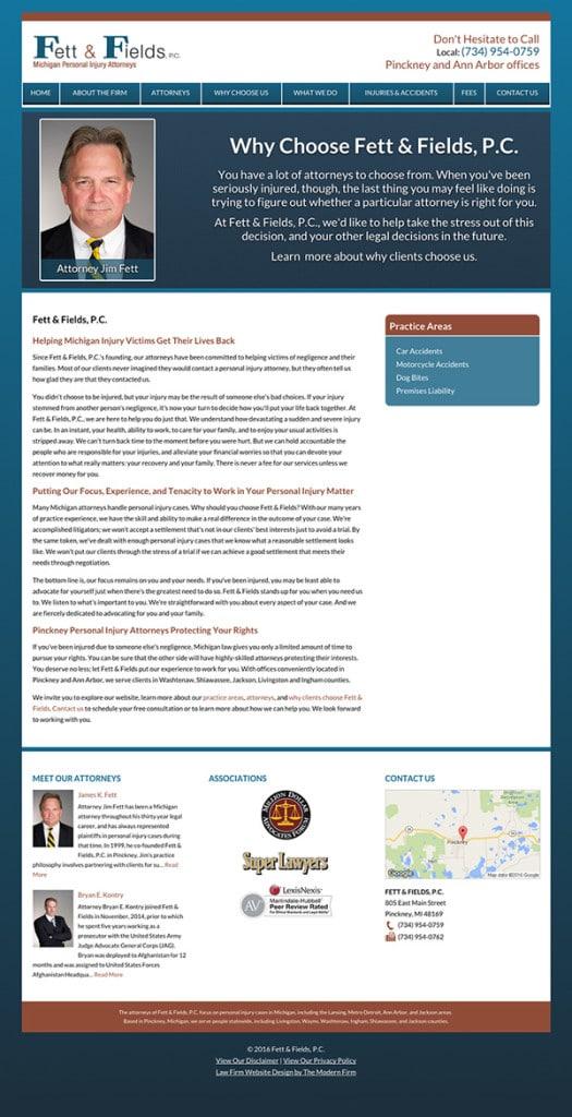 Pinckney Michigan Law Firm Website Design
