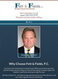 Pinckney Michigan Attorney Website Design