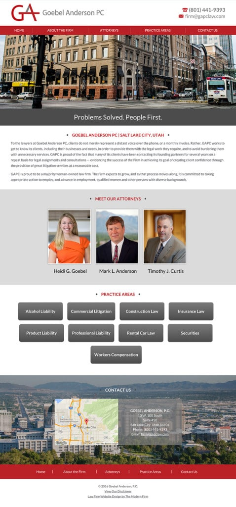 Salt Lake City Law Firm Website Design