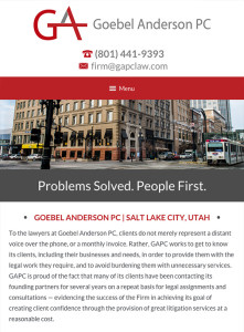 Salt Lake City Utah Law Firm Website Design