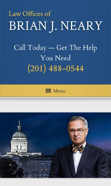 Responsive Mobile Attorney Website for Law Offices of Brian J. Neary