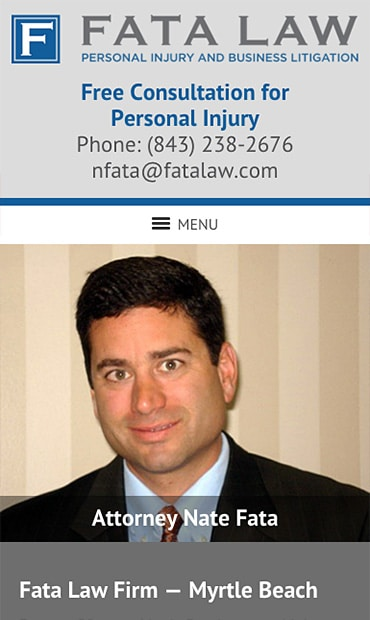 Responsive Mobile Attorney Website for Fata Law Firm