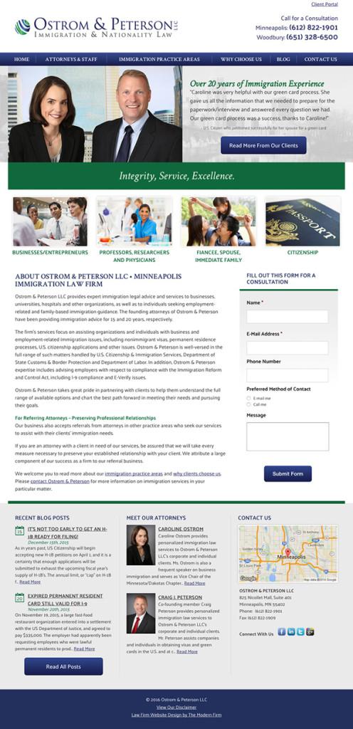 Twin Cities Immigration Attorney Website Design