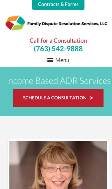 Responsive Mobile Attorney Website for Family Dispute Resolution Services, LLC