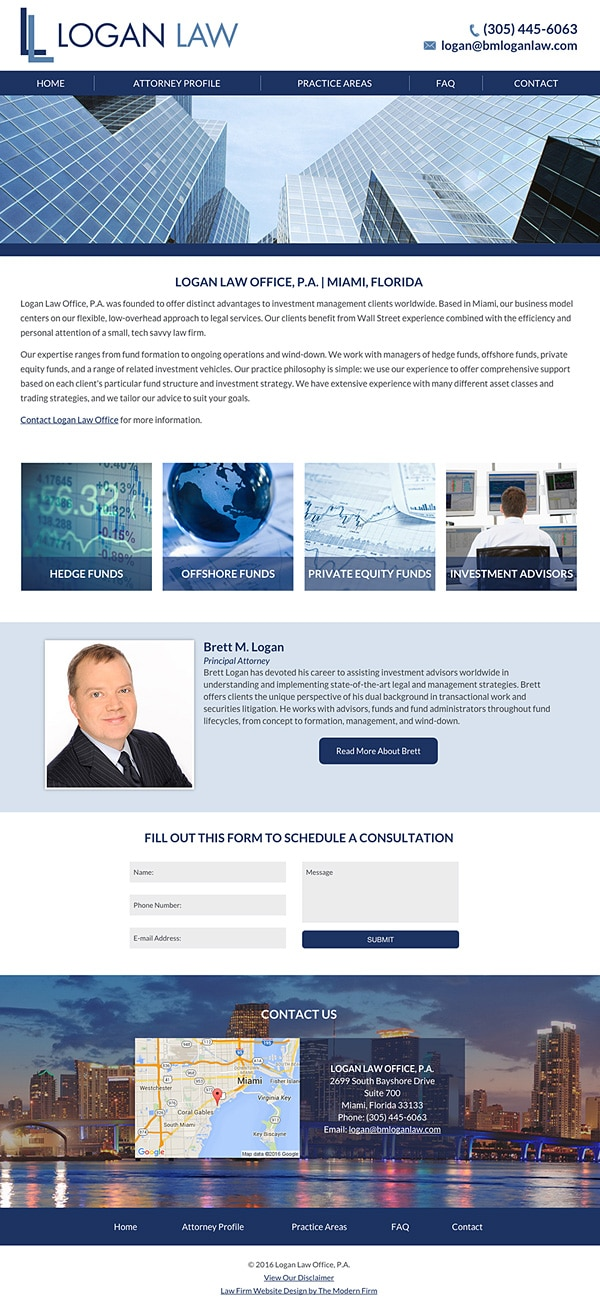 Law Firm Website Design for Logan Law Office, P.A.