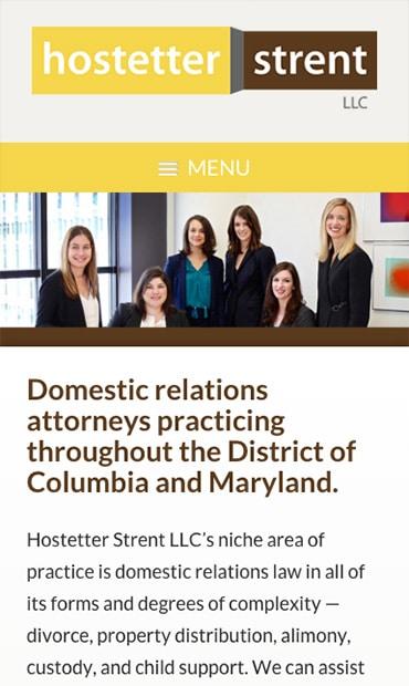 Responsive Mobile Attorney Website for Hostetter Strent LLC