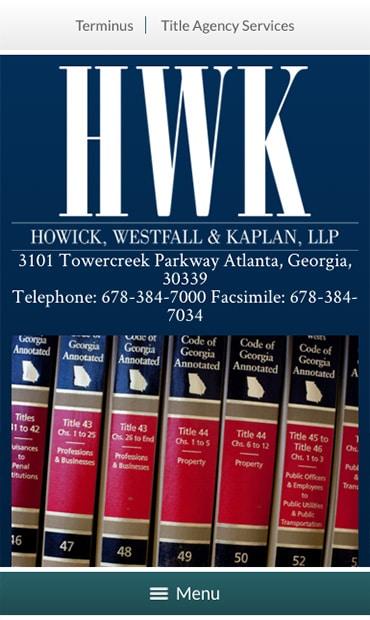 Responsive Mobile Attorney Website for Howick, Westfall & Kaplan, LLP
