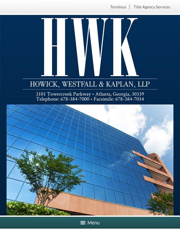 Mobile Friendly Law Firm Webiste for Howick, Westfall & Kaplan, LLP