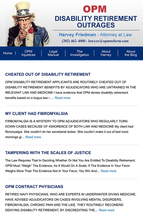 Mobile Friendly Law Firm Webiste for Harvey Friedman - Attorney at Law