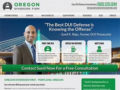 Law Firm Website design for Oregon Diversion Firm