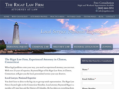 Law Firm Website design for The Rigat Law Firm