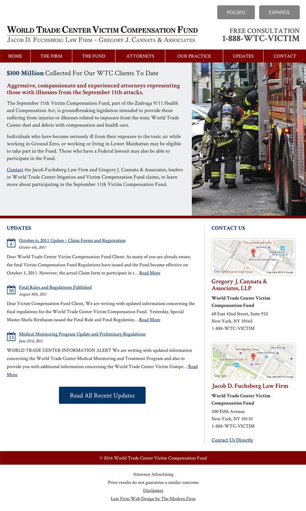 Law Firm Website Design for Gregory J. Cannata & Associates