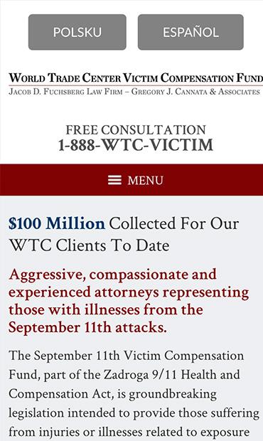 Responsive Mobile Attorney Website for Gregory J. Cannata & Associates