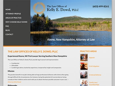 Law Firm Website design for The Law Offices of Kelly…