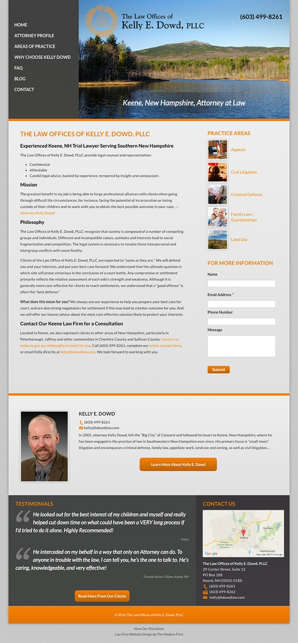 Law Firm Website Design for The Law Offices of Kelly E. Dowd, PLLC