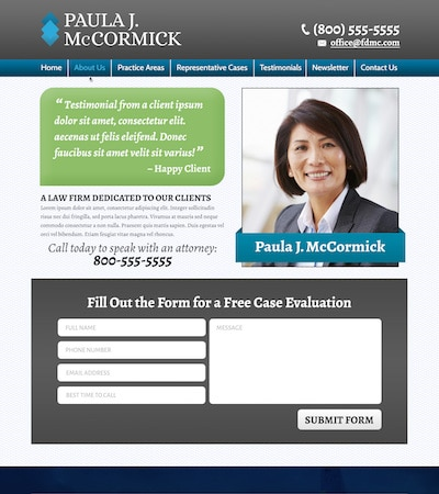 Law firm wbsite design concept Layout #107