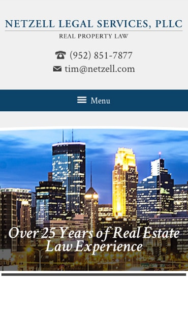 Responsive Mobile Attorney Website for Netzell Legal Services, PLLC