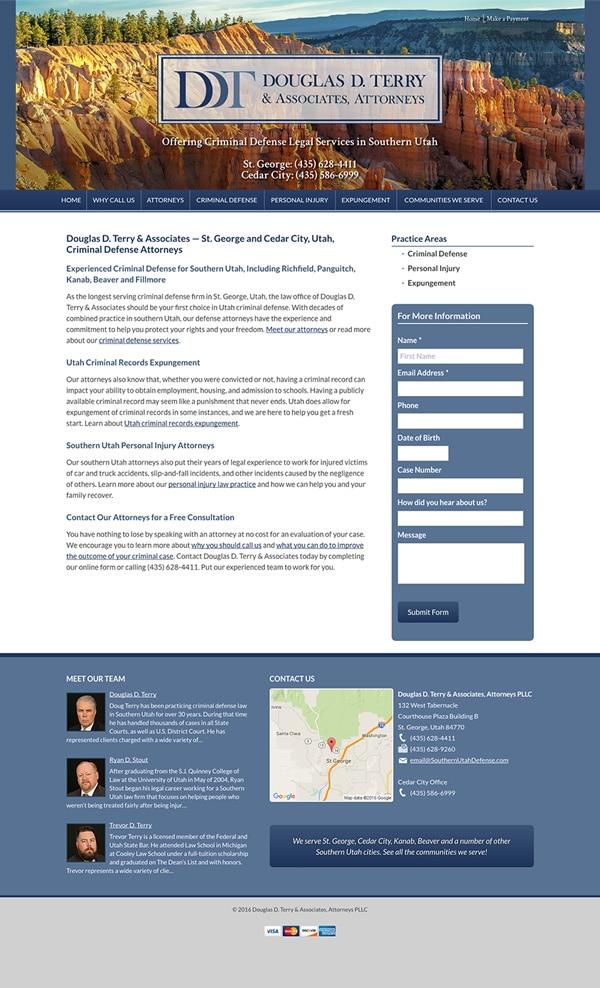 Law Firm Website Design for Douglas D. Terry & Associates, Attorneys PLLC